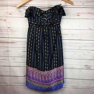 Betsey Johnson Dress Black Bandage Paisley Silk